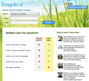 Snap Bird Twitter Software