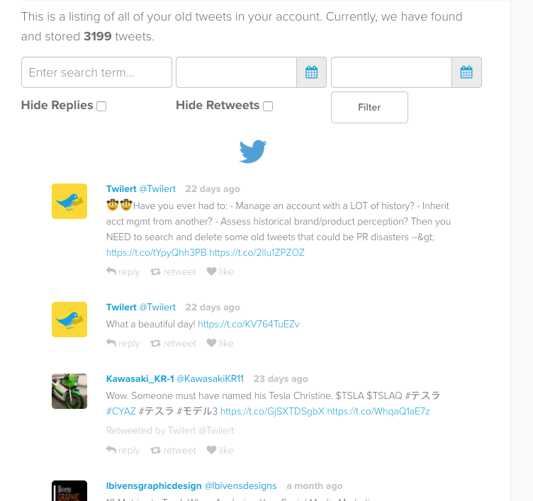 twitter history search tool Twilert
